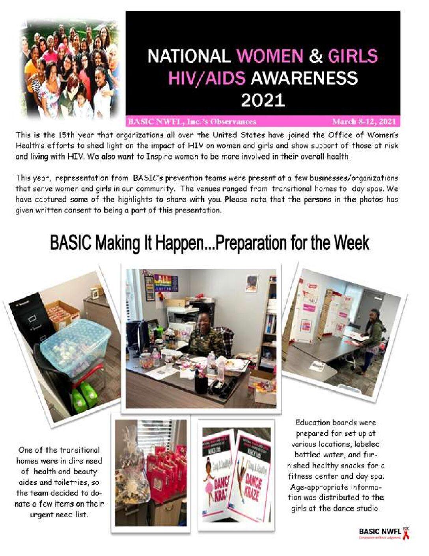 National Women and Girls HIV/AIDS Awareness 2021